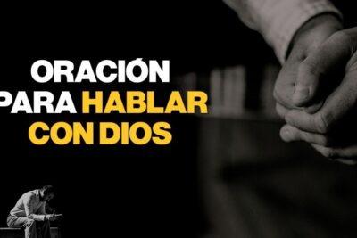 Oración para hablar con Dios