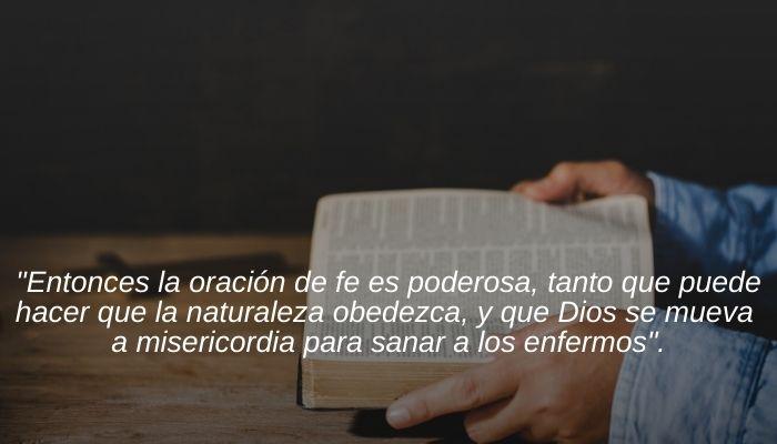 Que dice la Biblia de la Oracion de Fe