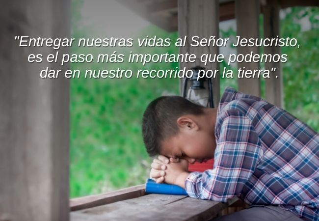Oracion para entregarse a Cristo